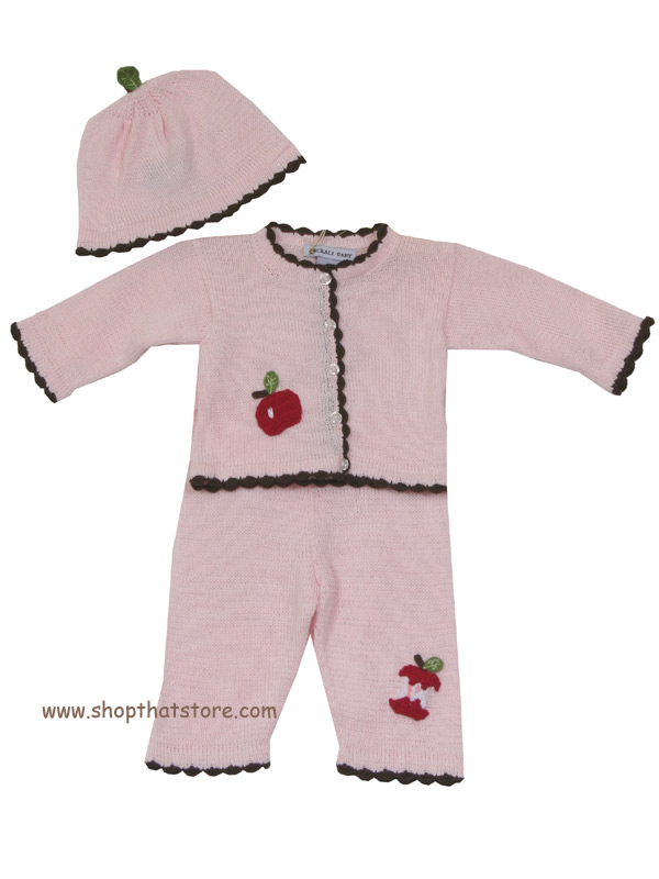 Zackali 4 Kids Apple Pant Set