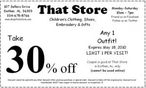 spring coupon